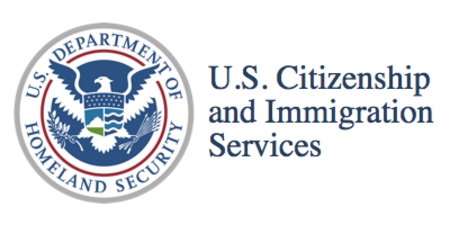 US immigration services logo