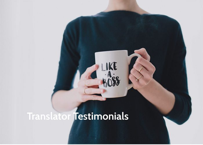 Translator testimonial
