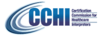 CCHI-Certification Commission for Healthcare Interpreters [seal / logo]
