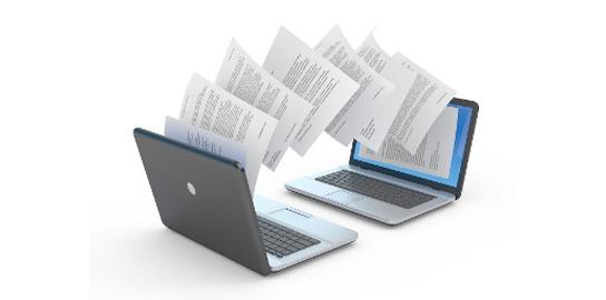 documents laptops