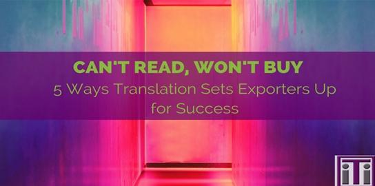 Translation Sets Exporters Up For Success