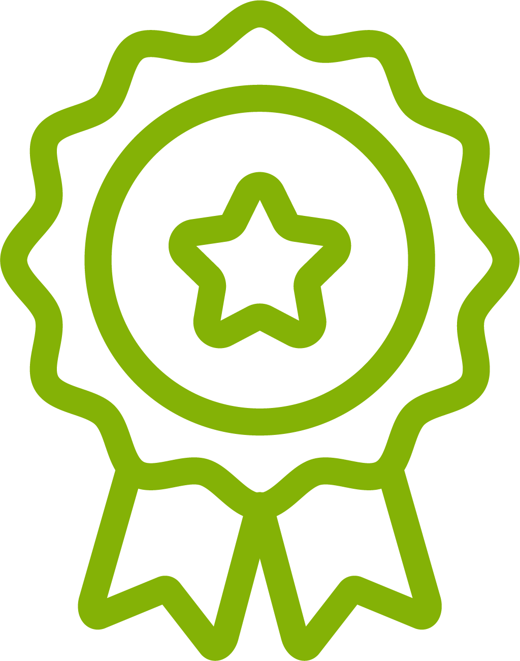 Ribbon Icon showing ISO Certification
