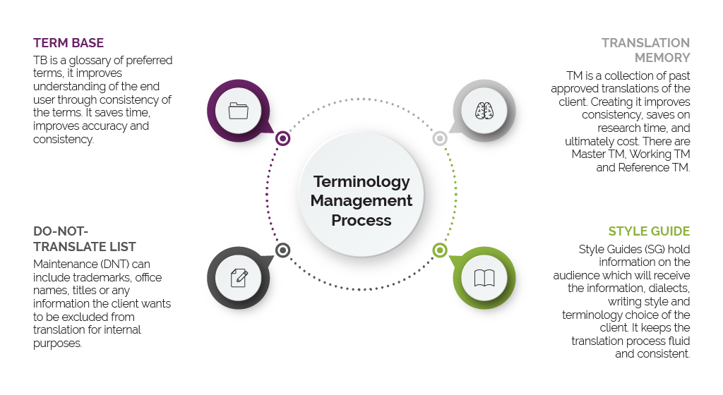 iTi's Terminology Management Process Infographic